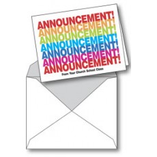 Notecard: Announcement! From Church School Class