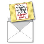 Notecard:Your Church Wishes You A Happy Day