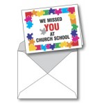 Notecard: We Miss You at Church School